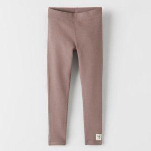 Zara Plain Ribbed Leggings
